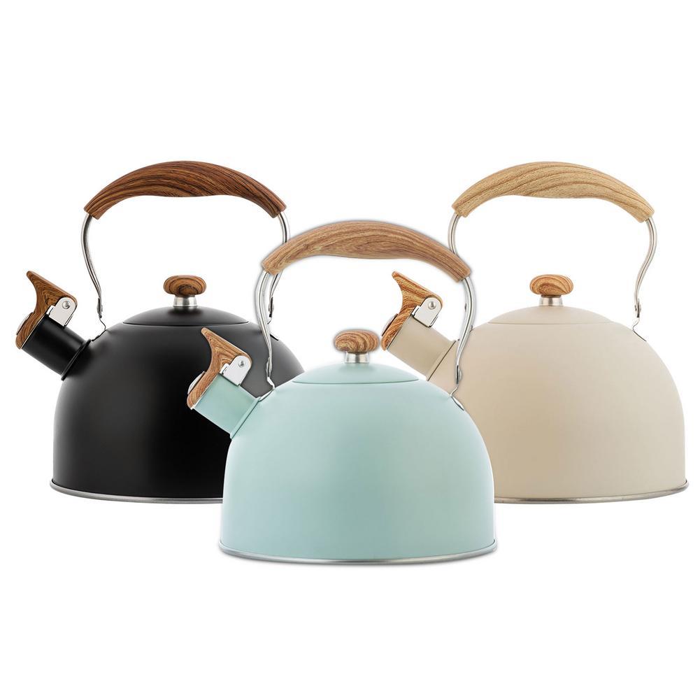 2.5L الفولاذ المقاوم للصدأ براد شاي صفير غلاية مكافحة السمط مقبض زجاجة ماء براد شاي أدوات المطبخ لطباخ التعريفي الغاز