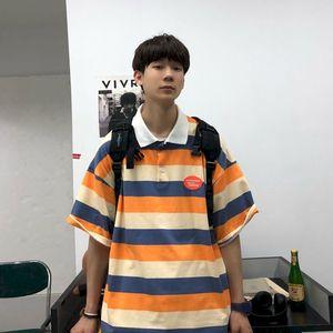 Men's T-shirt POLO Shirt Male Trend Korean Couple College Loose Cotton Short Sleeve T-shirt Wild Mens Clothing 2021 Summer New