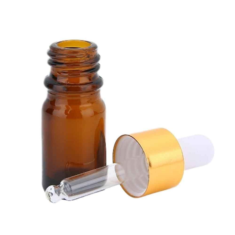 10ml Portable Reusable Sample Travel Dropper Sub-bottles for Essential Oil Glass Tube Plastic Dropper Empty Refillable Bottles