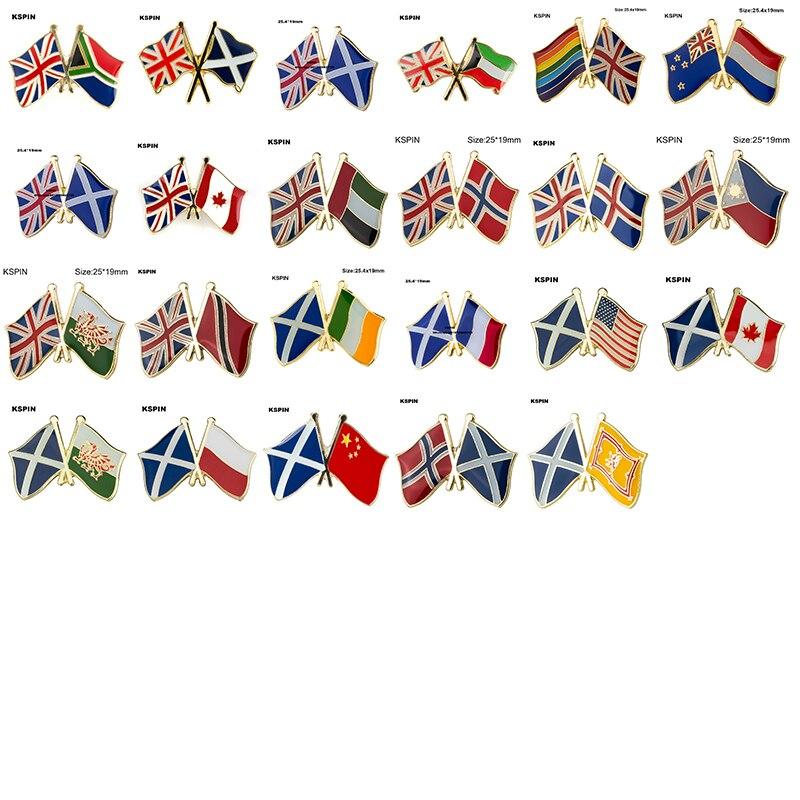 Bandeira lapple pino emblema broche unido kindom amizade sul africano escócia arco-íris netherland canadá noruega irlanda eua polónia