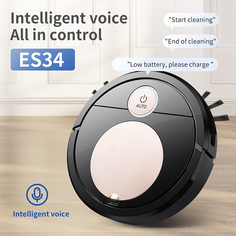 controle de voz robo aspirador de po 3 em 1 voz do telefone movel app controle toque