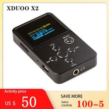 Xduoo X2 Bluetooth Muziekspeler Hifi Mini Muziekspeler Digitale Audio Speler Dap Ondersteunt MP3 Bluetooth Amp Hoofdtelefoon Versterker