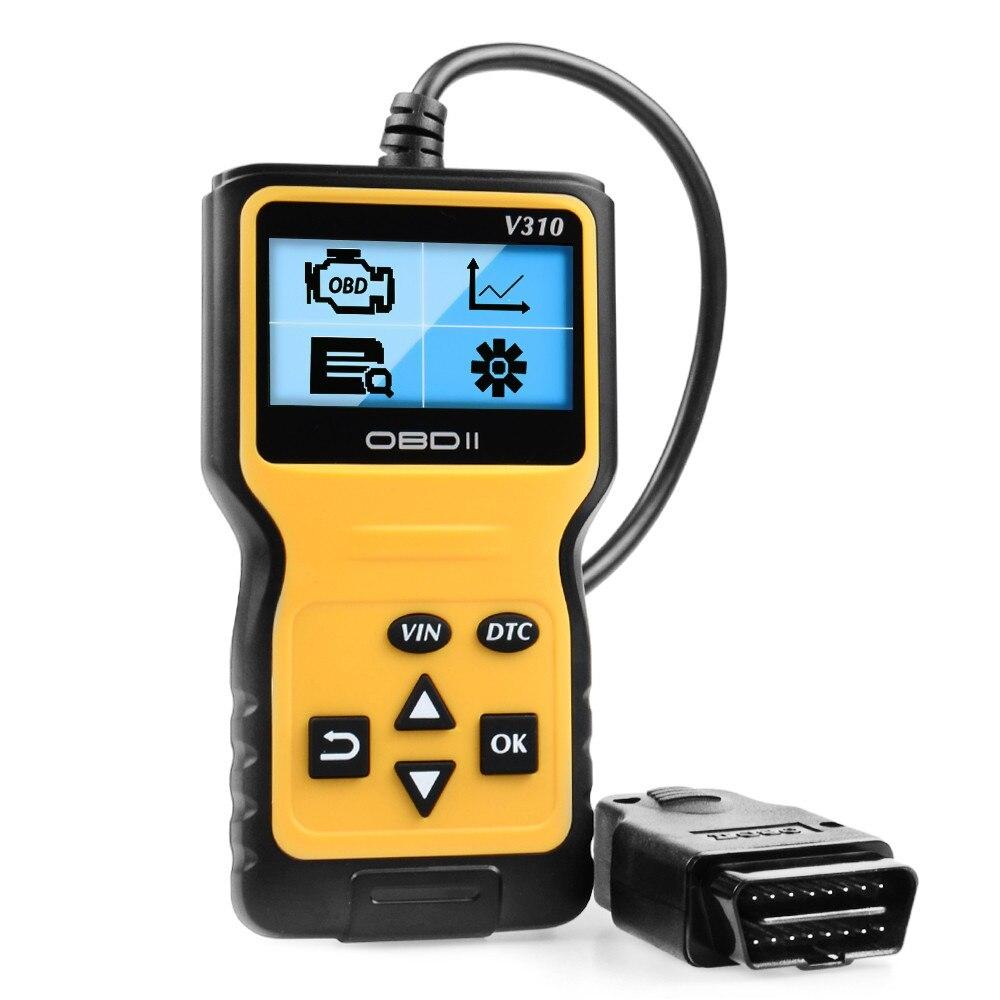 Универсальный OBD2 читатель кода V310 OBDII EOBD Авто код ридер автомобильный диагностический сканер двигателя светильник ошибка анализатор