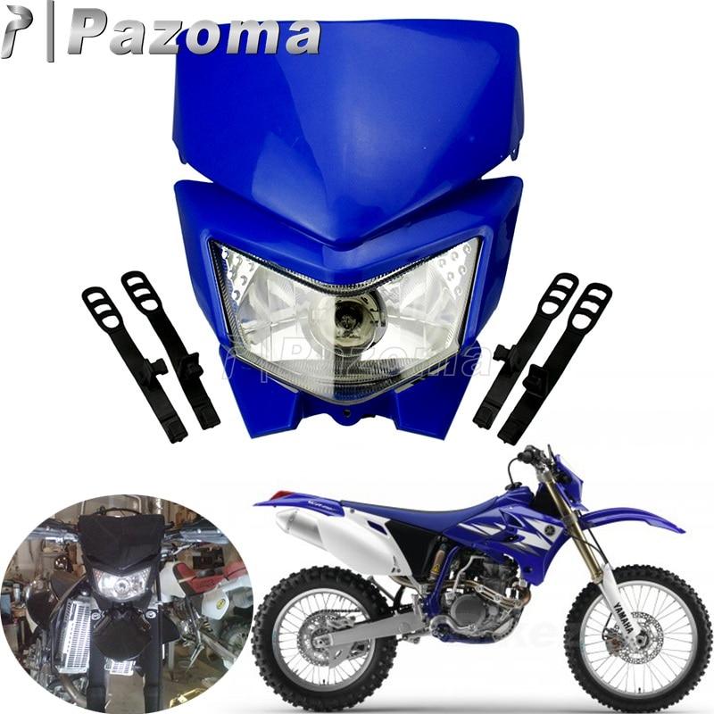 Enduro Motocross Headlight For Honda Yamaha TTR 125 230 250R 250L XT225 250 350 600 YZ125 360 85 250F 450F DRZ WR DRZ KX KLX KLR