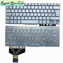 Laptop klavye Sony VAIO Fit 13 13A 13N SVF13 SVF13A SVF13N gümüş İspanya SP düzeni gümüş 149267241ES 9Z.NABBQ.30S