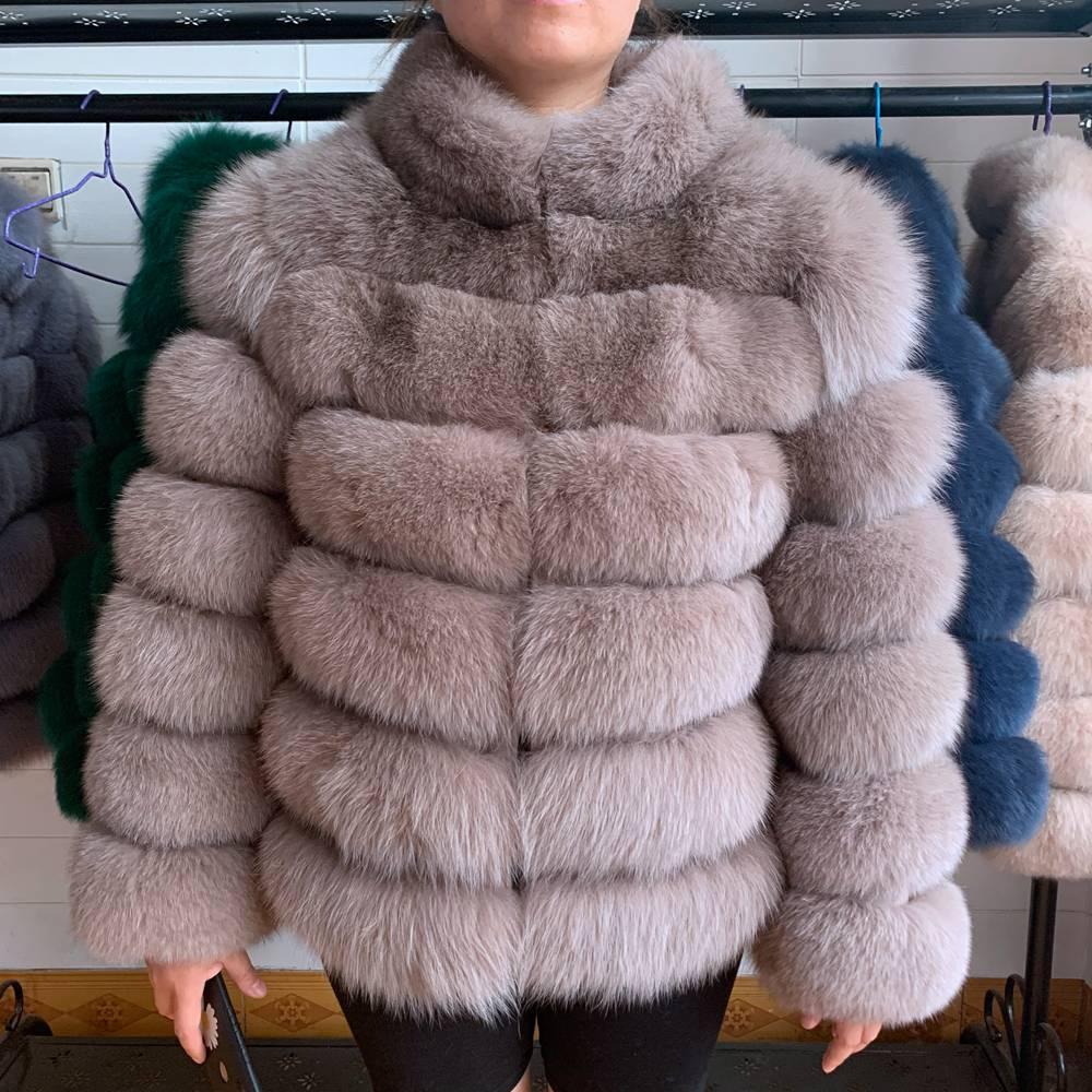NEW Europe Fashion Women Winter Thick Warm Real Genuine Fox Fur Coat Lady Luxurious Fox Fur Jacket Brand Real Fox Fur Overcoats