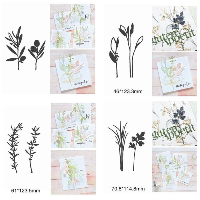Mix de flores rama hojas de corte de Metal muere bricolaje decorar tarjetas álbum de fotos álbum de relieve de papel de Venta caliente