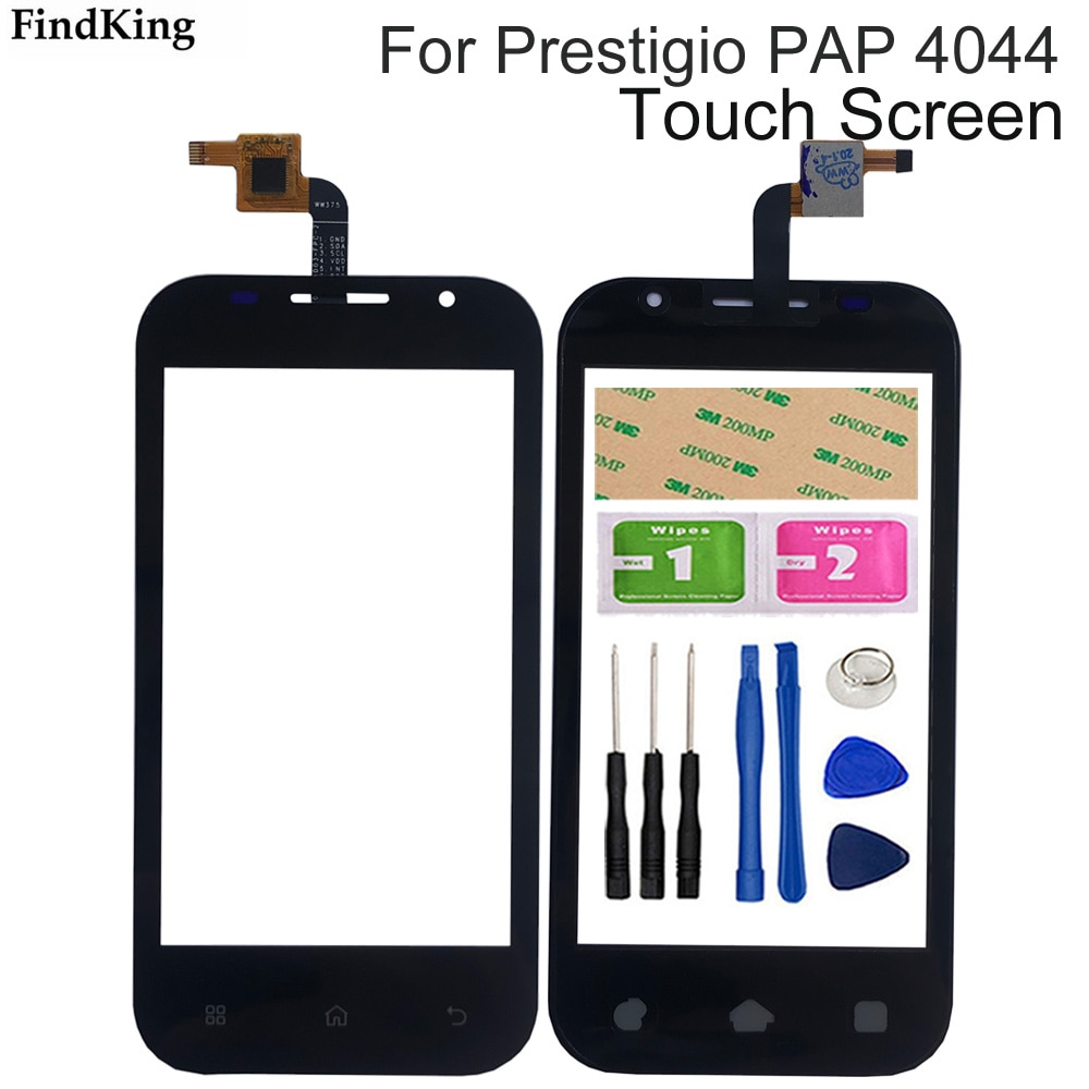 4.0'`Mobile  Phone Touch Screen Digitizer Panel For Prestigio PAP 4044  Touchscreen Sensor Front Gla