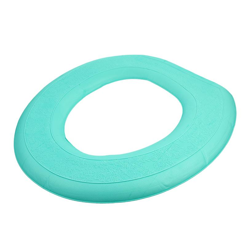 EVA Self-adhesive Toilet Seat Cover Universal Plush Toilet Cushion Potty Seat Cushion Winter Waterproof WC Mat Bathroom Products toilet seat hinges screws wc hole fixing easy installation 2 pack
