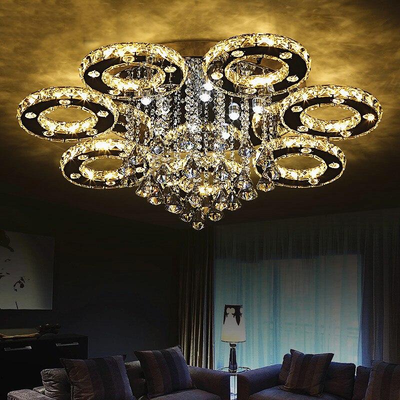 Lámpara de techo LED de cristal para sala de estar, iluminación para...