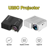 UC28C 16 7M mini projecteur LED videoprojecteur pour Home cinema bureau Theate Support HD affichage de synchronisation sans fil pour les telephones intelligents