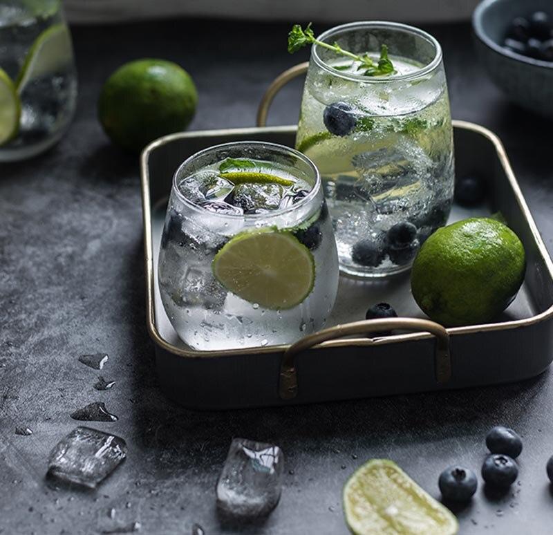 Reutilizable vino whisky lindo taza De vidrio pequeño vaso para beber agua...