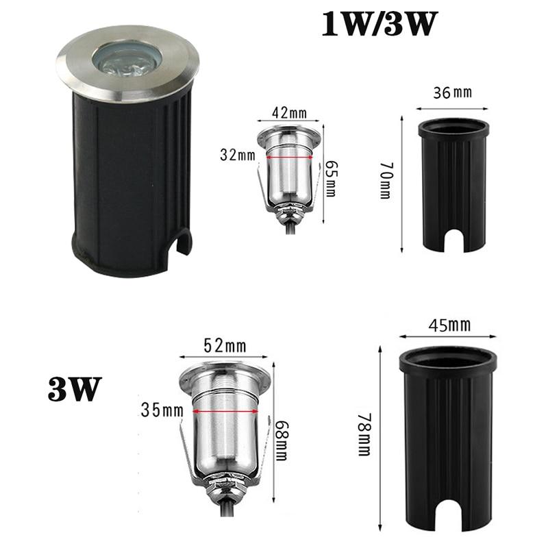 10 Uds LED luz subterranea 1W 3W 5W COB lampara de piso terreno de exterior punto paisaje jardin camino enterrado patio 85-265V enlarge