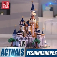mould king 13132 creative toys compatible with 71040 cute movie castle model building block assembly toys kids christmas gifts