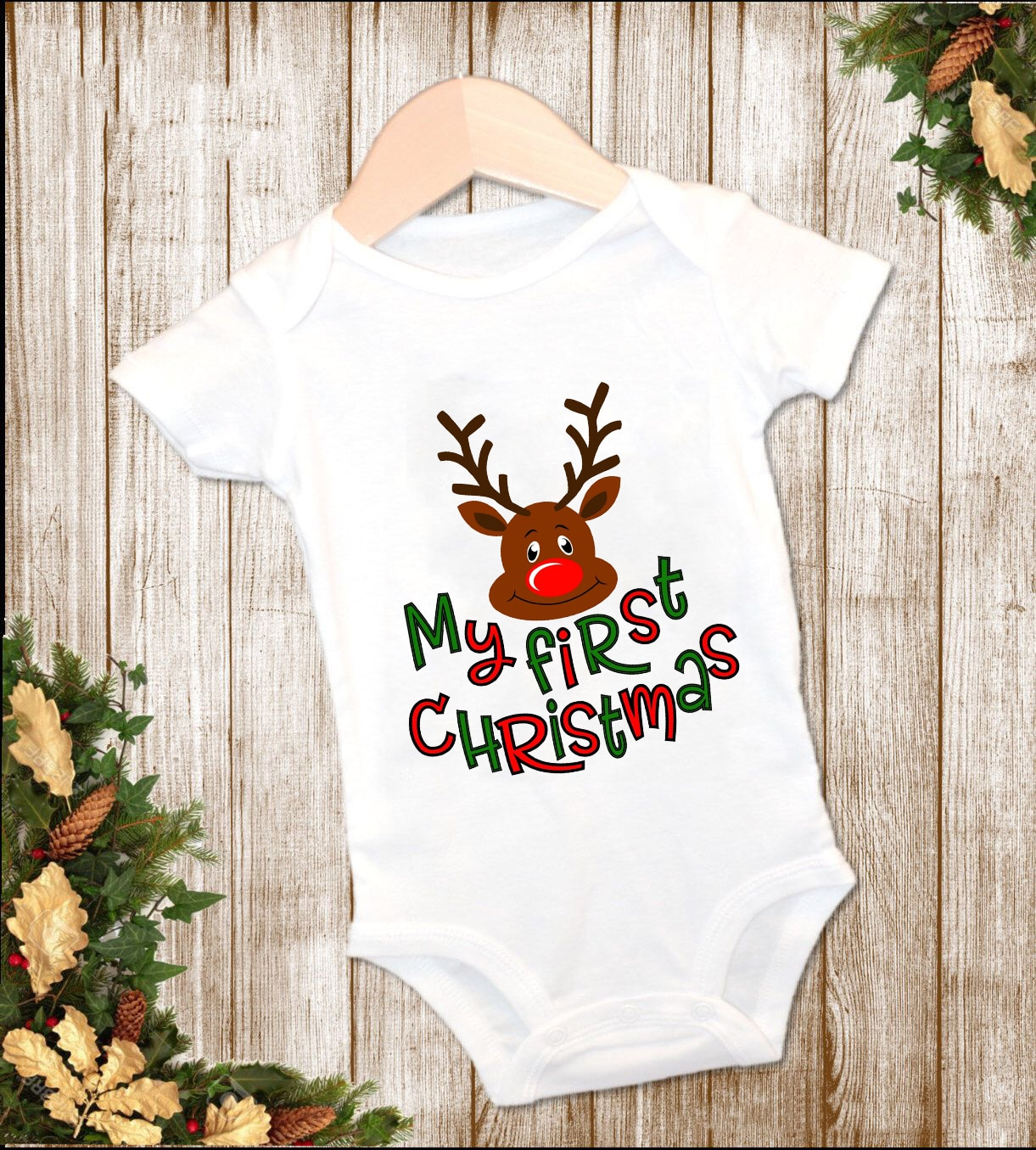 My First Christmas Pregnancy Announcement Baby Bodysuit for Newborns Costume Letter Cartoon Jumpsuit for Boys Baby Girl Clothes недорого