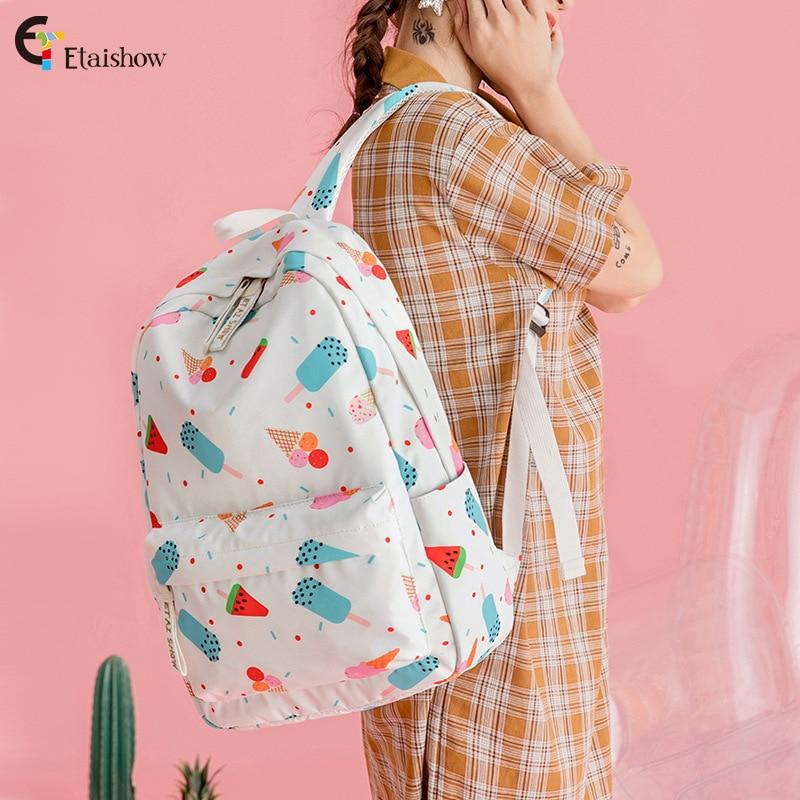 Moda de Alta Escola do Meio Cores Nova Qualidade Poliéster Mulheres Mochila Bagpack Bolsas Senhora Casual Mulher Mochilas 3 2021