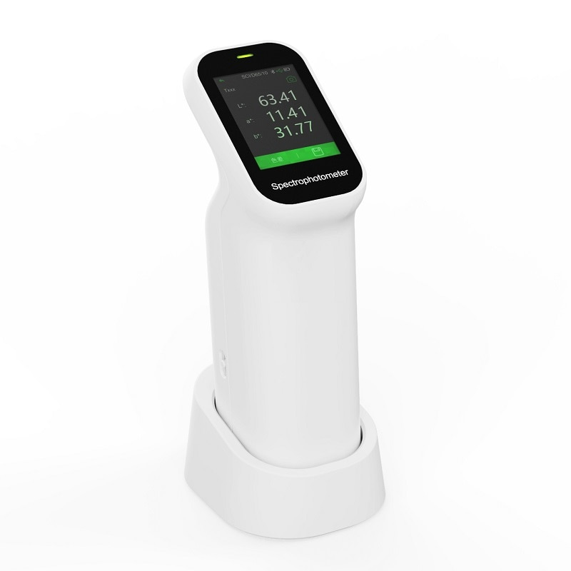 Portable Spectrophotometer CS-520 to measure color and color difference for samples with fluorescence enlarge