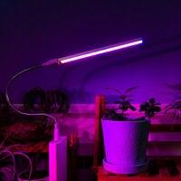 Фитолампа, светодиодный ная лампа полного спектра для выращивания растений с USB, 5 В, 3 Вт, 5 Вт