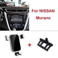 gravity car mobile cell phone holder air vent for nissan murano 2015 2016 2017 2018 gps mount support accessories styling
