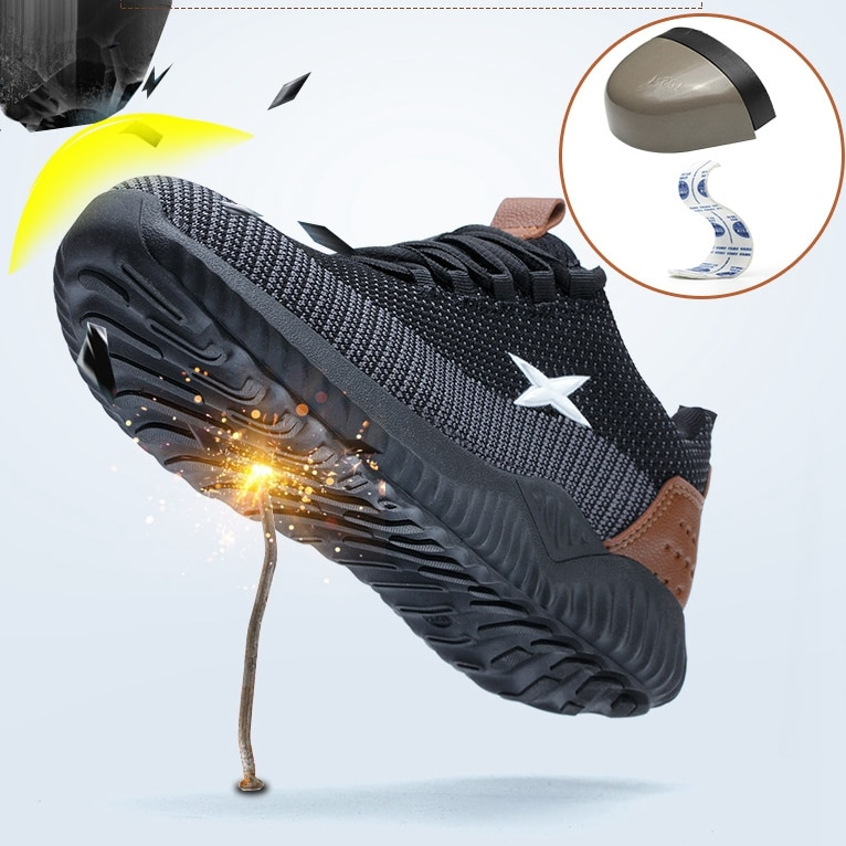 Safety Shoes Men And Women Steel Toe Anti-Smashing Stab-Resistant Breathable Lightweight And Comfort