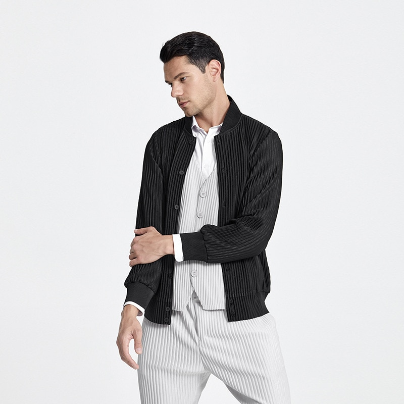 Changpleat 2021 Летние Новые мужские куртки miяка плиссированные Модные свободные Бриджи повседневные спортивные куртки