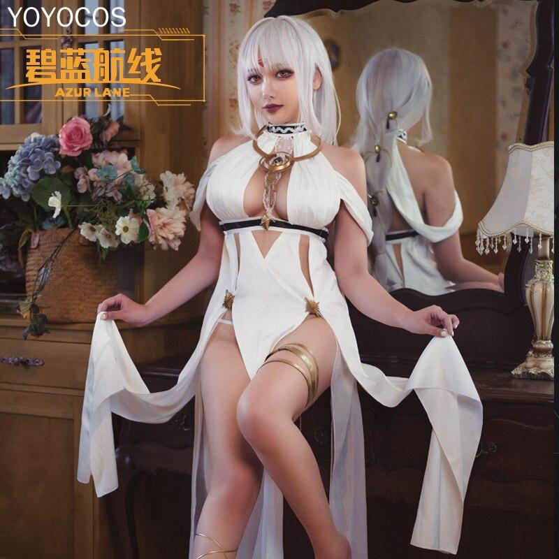YOYOCOS Game أزور لين ماساتشوستس تأثيري فستان مُصمم حسب الطلب مأدبة إعداد للعيد فستان رسمي كرنفال حفلة زي