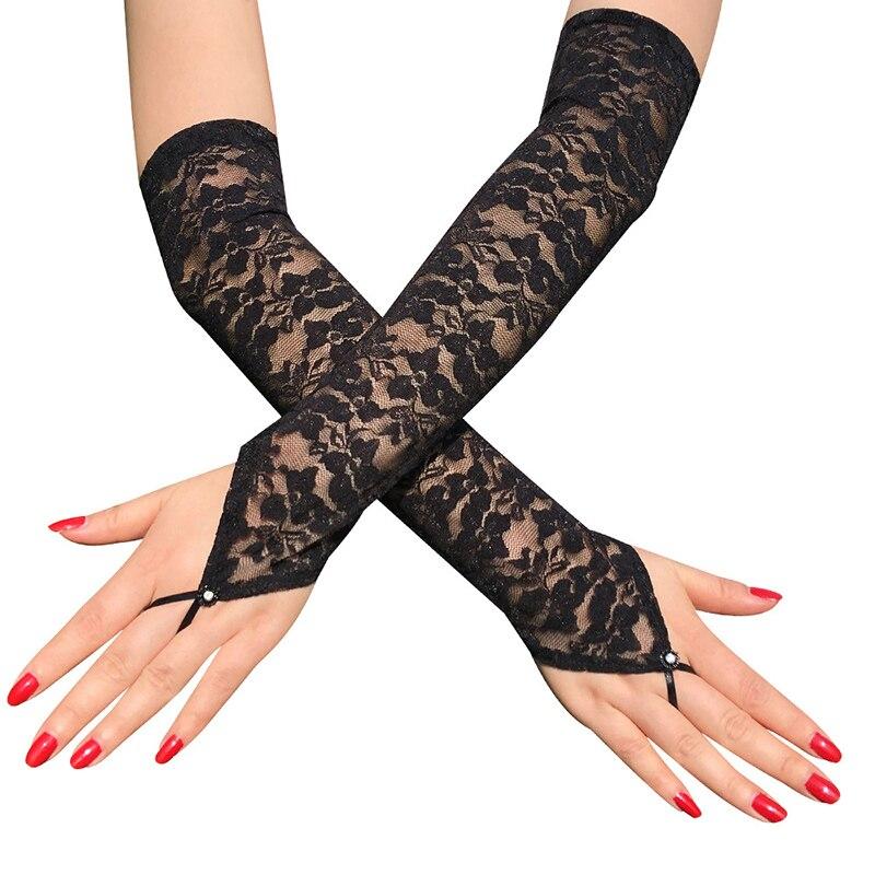 Женские перчатки 1 пара солнцезащитные рукавицы сексуальные цветочные рукавицы без пальцев растягивающиеся рукавицы перчатки по локоть дл...
