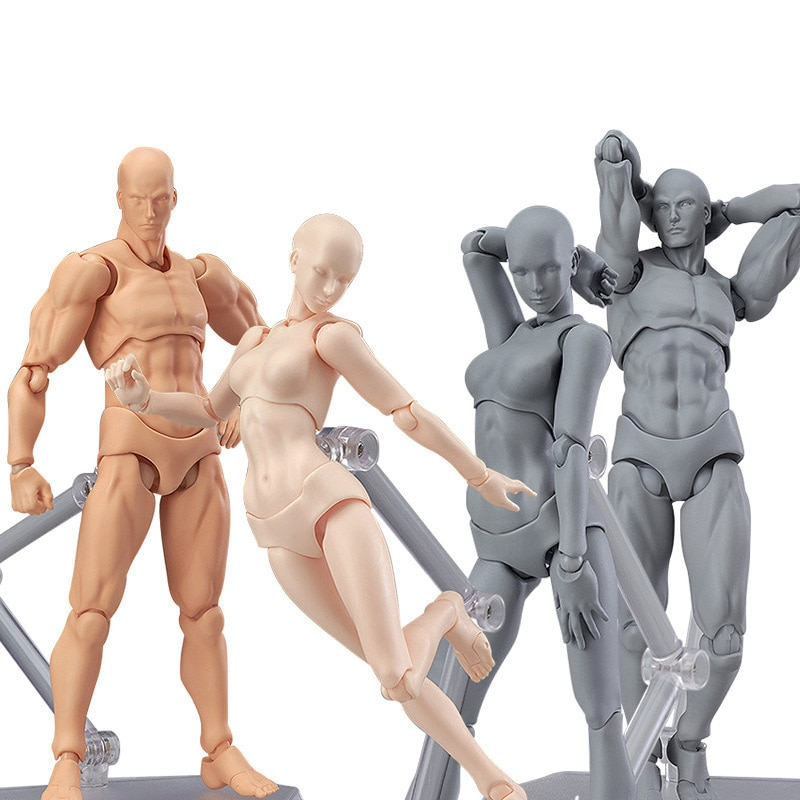 1 Set Anime Drawing Figures For Artists Body Action Figure Model Human Toy Doll kensuke okabayashi figure drawing for dummies
