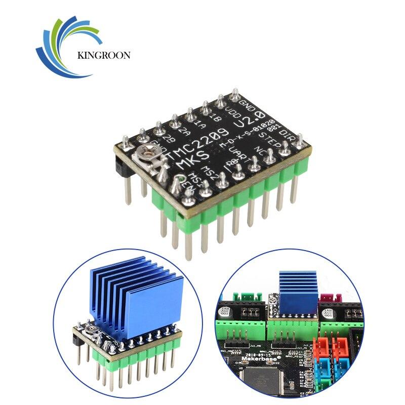 mks gen l v1 0 integrated mainboard suitable ramps1 4 mega2560 r3 mks gen l v1 0 new 12864 lcd screen 2 pcs tmc2130 v1 1 spi MKS TMC2209 Stepper Motor Driver SKR V2.0 GEN L StepStick 3d printer parts 2.5A UART ultra silent For SGen_L Gen_L Robin Nano