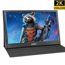 13.3 pouces 2K 2560x1440 Portable ordinateur moniteur PC HDMI PS3 PS4 Xbo X360 IPS écran LED lcd pour Raspberry Pi gagne 7 8 10 + étui