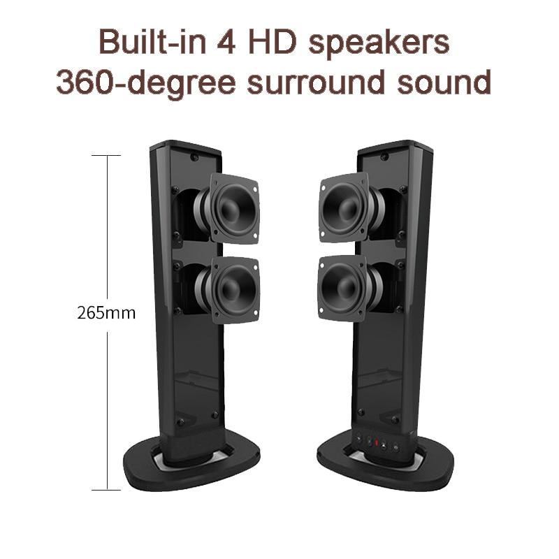 Detachable Speaker Multifunction Home Theater 3D Stereo Sound Bar Surround Speakers Bluetooth Subwoofer Split Soundbar for TV/PC enlarge