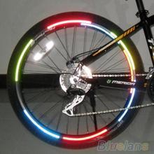 21 cm x 8 cm luorescent MTB Bike Aufkleber Fluorescent Mtb Fahrrad Aufkleber Radfahren Felgen Reflektierende Aufkleber Aufkleber