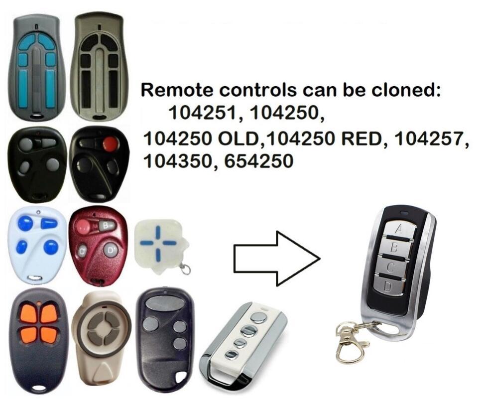 Пульт дистанционного управления для гаражных дверей 104250 114253, Открыватель ворот с непрерывно изменяющимся кодом 100400 100550, команда с фиксиров...