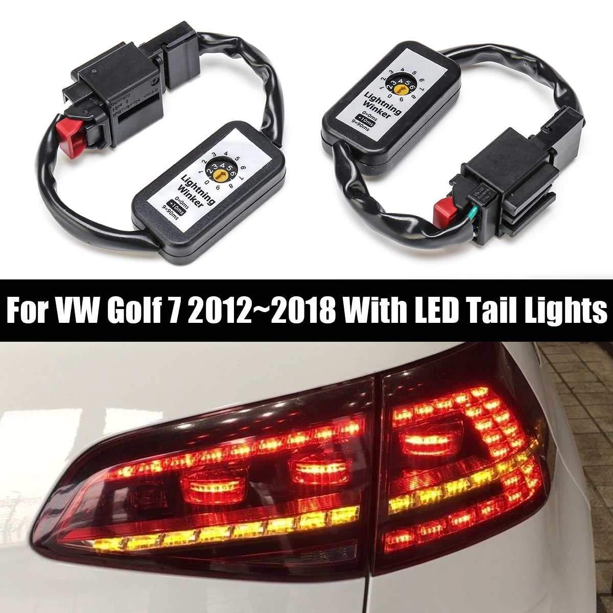 Indicador de señal de giro dinámico negro luz trasera LED módulo Add-On arnés de Cable para VW Golf 7 luz trasera izquierda y derecha 2 uds