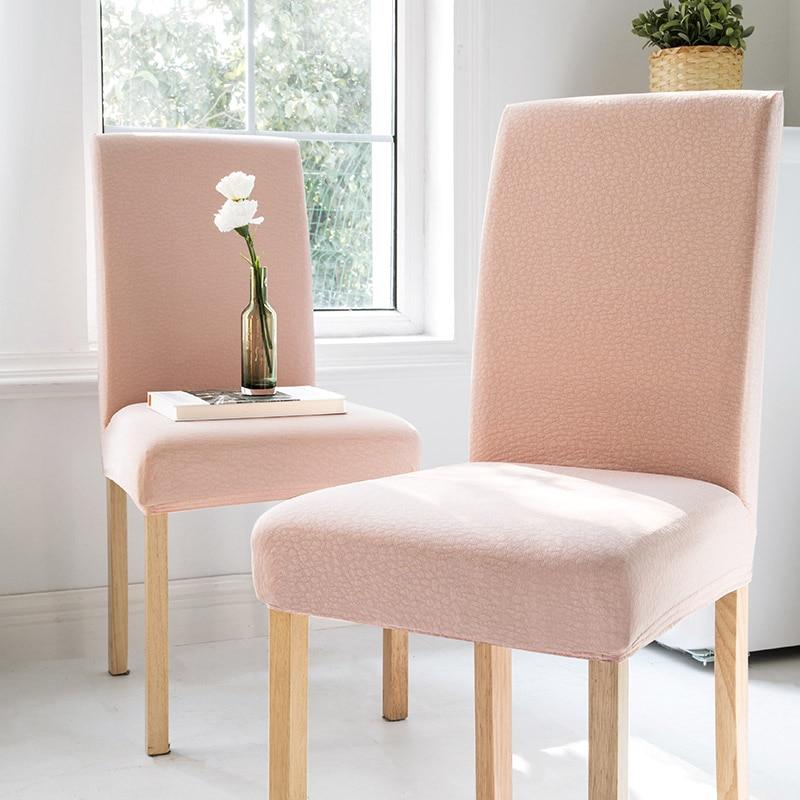 الوردي غطاء مقعد الجاكار تمتد كرسي بمساند لتناول الطعام الشمال الغرور مخدة كرسي غطاء غرفة نوم كابا دي Cadeira كرسي زفاف BK50YT
