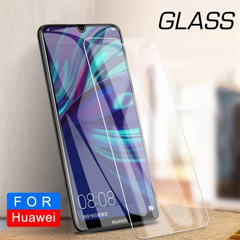 Protector de pantalla de vidrio templado 9H para Huawei Y5 Y6 Y7 Y9 2018 2019 Prime 2018 2019 película de vidrio lámina de película de pantalla transparente