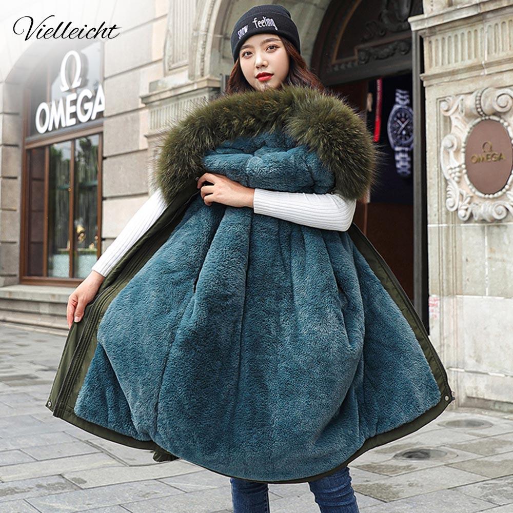 Новинка 2021 года, хлопковая Толстая теплая зимняя куртка, Женская Повседневная парка, зимняя одежда, парка с меховой подкладкой и капюшоном, ...