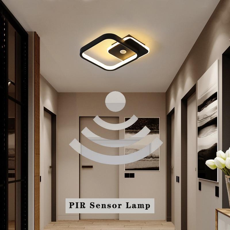 Светодиодный потолочный светильник с пассивным ИК датчиком движения для коридора, 220 В, 14 Вт, 16 Вт