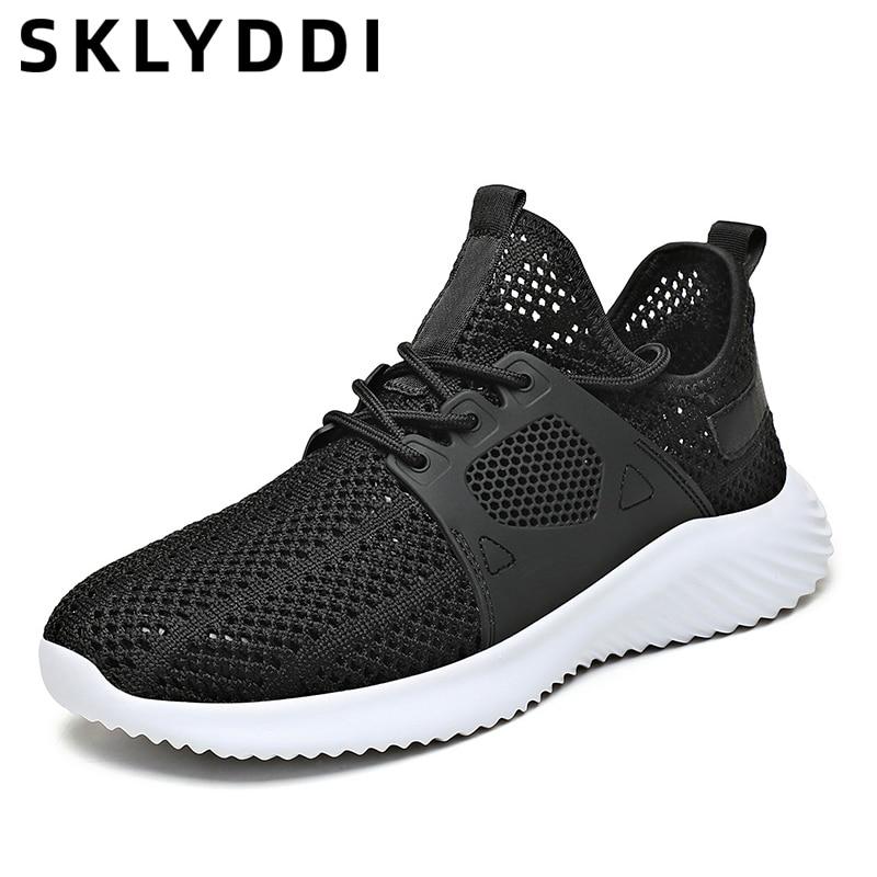 أحذية رياضية رجالية غير رسمية موضة أحذية مشي خارجية قابلة للتنفس أحذية شبكية رياضية أحذية تدريب للركض للرجال
