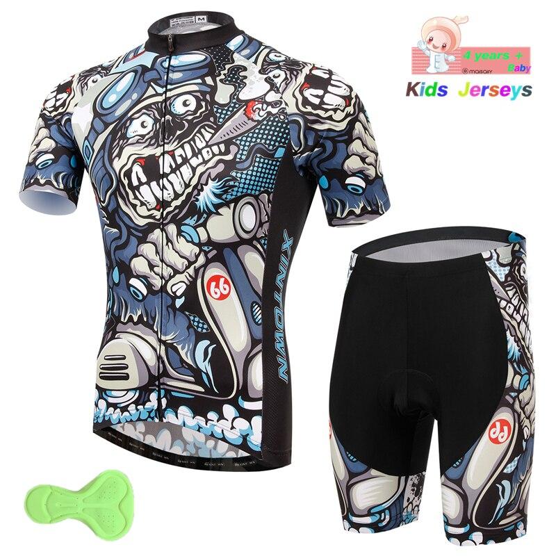 Chicos Cool ropa de ciclismo bicicleta niños ropa transpirable anti-UV ropa de bicicleta de Trekking de verano ciclismo Jersey manga corta conjunto