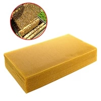10pcs 200415mm honeycomb beeswax foundation beehive wax frames base sheets bee comb honey frame high quality beeswax sheet