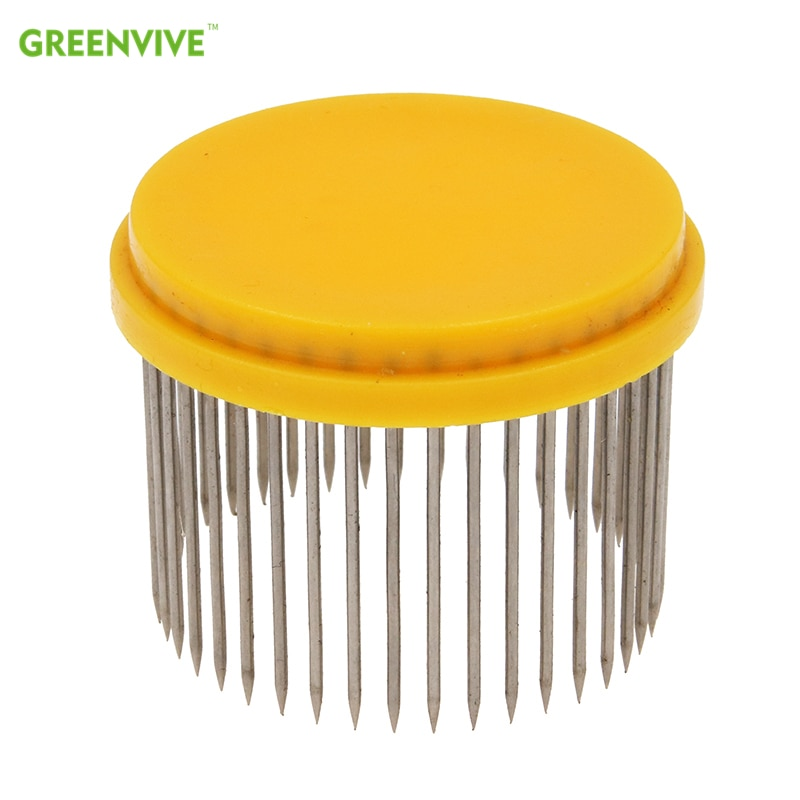 beekeeping tools protective cover base bee queen king cage accessories fertility king pedestal guard cage cover bee equipment 10 2PCS Stainless Steel Bee Queen Cap For Queen Cage High Quality Beekeeping Equipment Supplies