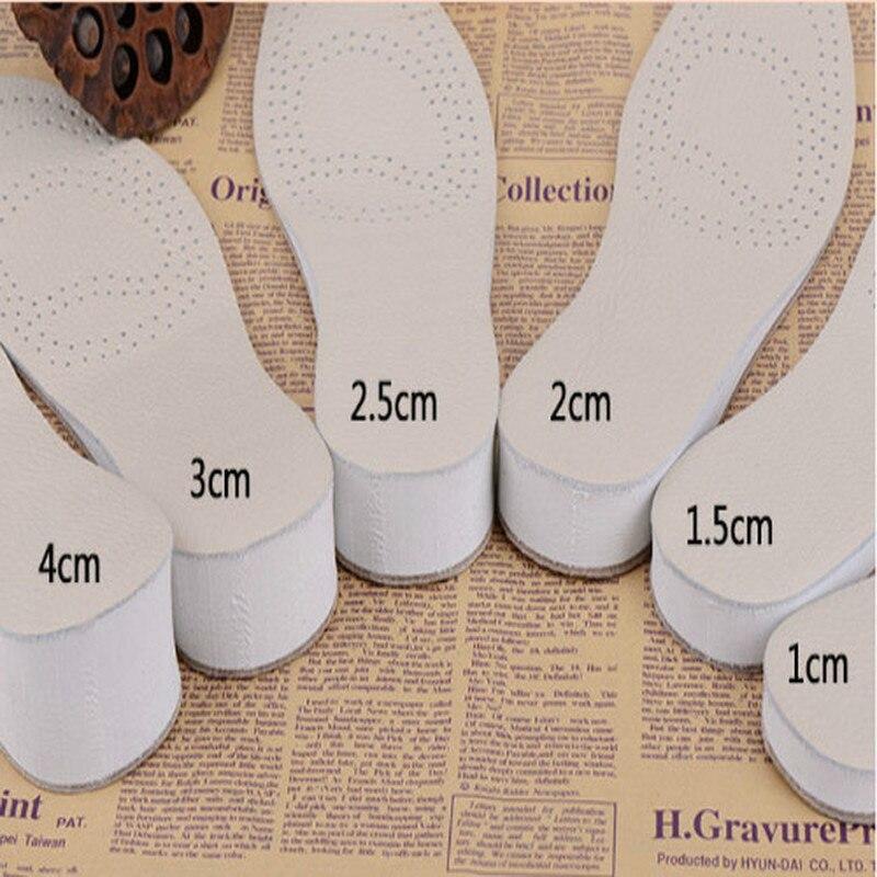 Almohadilla de Zapatos altos de cuero vacuno de doble capa, desodorante antideslizante para hombres y mujeres, almohadilla aumentada para zapatos 1/1.5/2/2.5cm/3c/4cm
