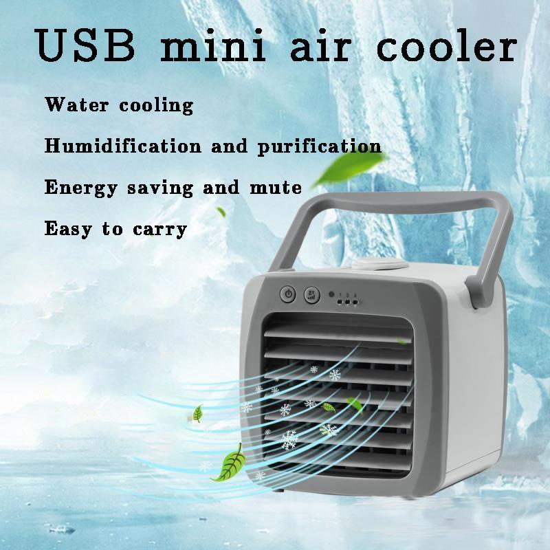 Mini humidificador de aire acondicionado portátil con USB, purificador desodorizante para interiores, luces de 7 colores para escritorio de oficina, casa y coche, dfdf
