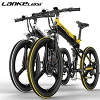 lankeleisi xt750 s elite 7 speed 400w 48v12 8ah14 5ah lithium battery 26 inch folding electric bicycle bouble shock absorber