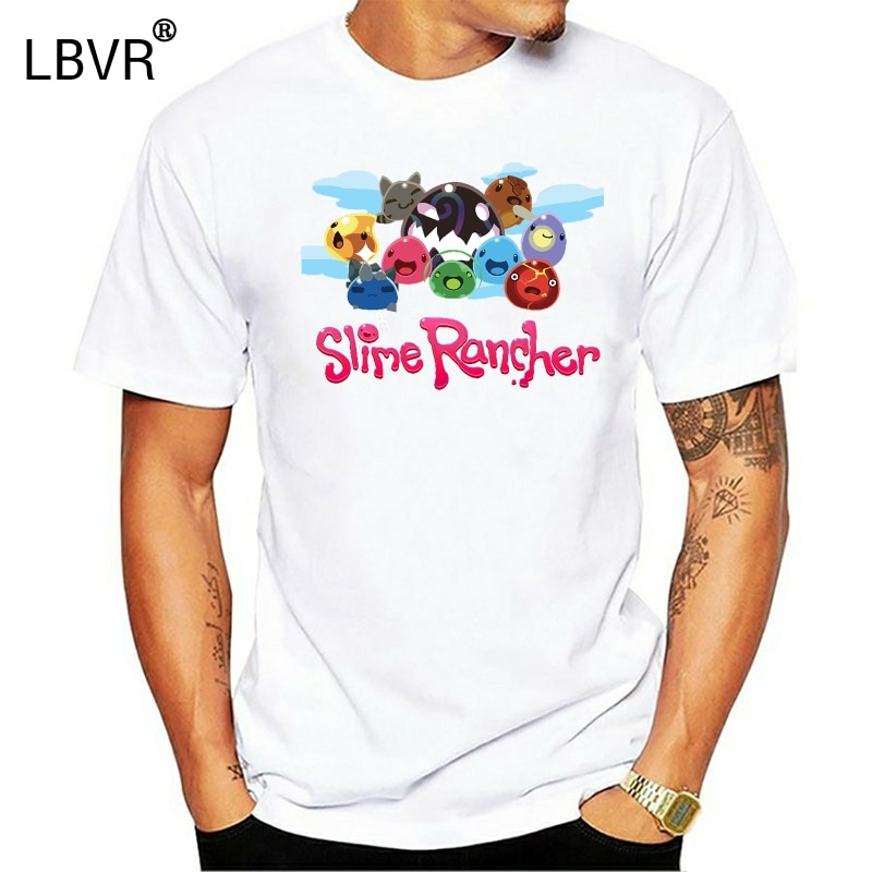 Slime Rancher camiseta Unisex para hombre de algodón Slimes Tarr Video juego de dibujos animados camiseta hombres Unisex nueva camiseta de moda