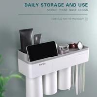 waterproof toothbrush holder multi function wall mounted bathroom storage racks punch free durable phone shelf living room decor