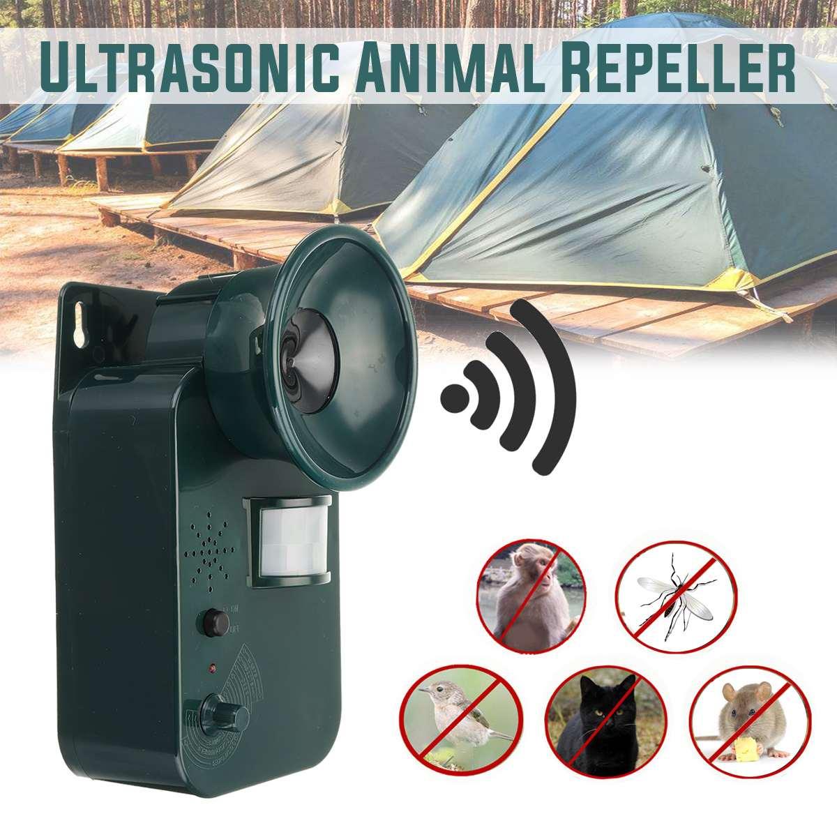 Portable Waterproof Harmless Safe Outdoor Indoor Ultrasonic Animal Rodent Cat Repeller Pest Dog Fox