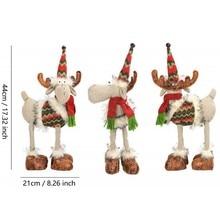 Cadeau de noël créatif Festival Stand Figurine en peluche poupée jouet mignon Elk cadeau maison fête bureau décoration artisanat Elk 44*21*5CM