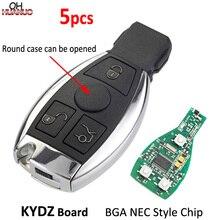 Смарт ключ дистанционного управления с чипом NEC BGA, 5 шт. * 3 кнопки, 315/433 МГц, для Benz A E S G CLK SLK ML Class, после 2000 года